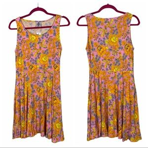 Agnes & Dora Fisher Bright Floral Skater Dress NWT